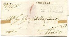 P8680   Venezia, Chioggia, Prefilatelica per Venezia, lineare, 1835