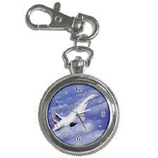 CONCORDE FLIGHT ROUND KEYCHAIN WATCH **SUPERB ITEM**