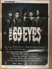 THE 69 EYES 2016 TOUR  - orig.Concert Poster - Konzert Plakat - NEW -