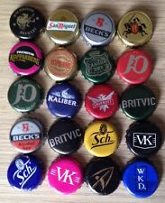 20 Beer Softs Etc Bottle Tops Crown Cap Various