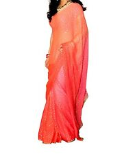 Indian Bollywood Designer Georgette saree With Blouse Piece