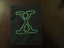 X Symbol Patch, xfiles x-files geekery mulder scully aliens ufo punk patches