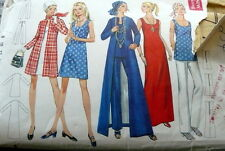 LOVELY VTG 1950s DRESS TOP PANTS & COAT BUTTERICK Sewing Pattern 8/31.5