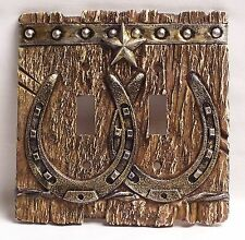 Western Double Light Switch Plate/Cover Rustic Home & Cabin Decor (NAT)