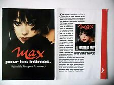 PUBLICITE-ADVERTISING :  MAX  Mathilda May [2pages] 1990 Presse,Média
