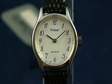 Vintage Retro Pulsar Womens Quartz Dress Watch Circa 1980s NOS