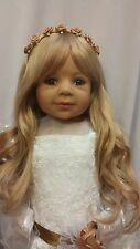 NWT Masterpiece Dolls Laura Blonde Brown Eyes 29 Inches By Monika Levenig