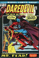 Marvel Daredevil #91 (1972) ... Mister Fear - No stock photos