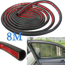 "New Car Motor Door D-shape Rubber Seal Weather Strip OEM Hollow 314"" 8M"