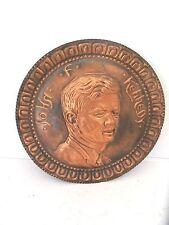 Piatto Commemorativo in Rame brunito JOHN FITZGERALD KENNEDY 1963