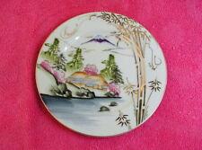 """Kutani Hand Painted (Mt Fuji Scene) 6 1/2"""" BREAD PLATE"""