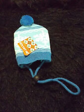 cute puppy knit winter hat with drawstring snow flake design warm winter wear
