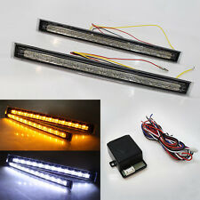 Fog Led Daytime Running Lights Drl + Turn Signal Indicators + Control Module