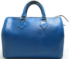 Louis Vuitton EPI Speedy 25 Tasche Bag Zeitlos Boston Elegant Blue Blau BLEU