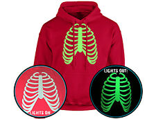 Rib Cage Halloween GLOW IN THE DARK Unisex Hoodie 10 Colours (S-5XL) by swagwear