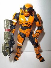 Halo 3 **Toys R Us Exclusive Orange Spartan Mark V** 100% Complete w/ Gun RARE