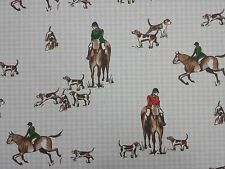 Clarke and Clarke Horse and Hound Dogs Designer Curtain Upholstery Craft Fabric