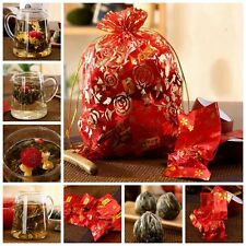 16 Blooming Flower Flowering Jasmine Green Handmade Chinese Tea Ball Health Gift