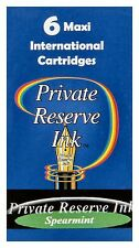 6 Spearmint Private Reserve Ink Maxi International Cartridges / #CL11