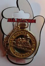 DISNEY WDW TRAIN POCKET WATCH SERIES VINTAGE MICKEY RAILROAD HINGED LE 1000 PIN