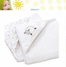 Silvercloud Counting Sheep Cuddle Robe Twin Pack Baby Bath Robe