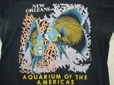 Vintage New Orleans Aquarium Of The Americas Tourist Black Men's T- Shirt XL