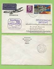 Germany 1970 Lufthansa Flight Cover, LH 590, Frankfurt - Port Louis Mauritius