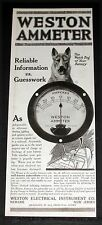 1919 OLD MAGAZINE PRINT AD, WESTON AMMETER, THE WATCHDOG OF YOUR BATTERY, CAR!