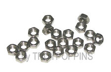 20-SS M5 HEX NUTS 0.8 THREAD PITCH TYPE A2 STAINLESS STEEL 5MM METRIC FASTENER