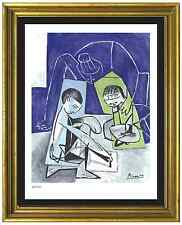 "Pablo Picasso Signed & Hand-Number Ltd Edition ""Francoise Claude Paloma"" Print"