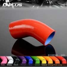 """3"""" TO 3"""" Inch 45° 45 Degree Hose 76mm Turbo Silicone Elbow Coupler Pipe RED"""