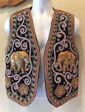 Vintage 3D ELEPHANT VEST HIPPIE BOHO Carol Horn Workshop Renaissance Festival