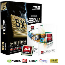 AMD A4 6300 CPU ASUS A88XM-A USB 3.1 MOTHERBOARD HDMI GAMING UPGRADE BUNDLE