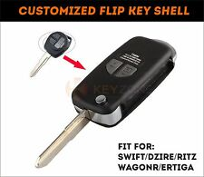 New! Customized Flip Key Shell for Suzuki Swift, Dzire, Ertiga, Ritz, SX4