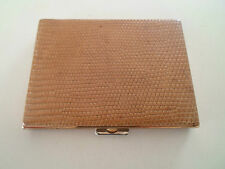Vintage Retro Gorgeous French Snake Skin Effect Leather Patrys Compact