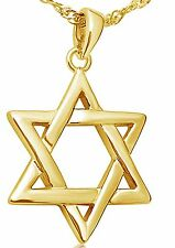 Judaica 14 K Gold Plated Magen David Pendant With Necklace, Kabbalah Jewelry