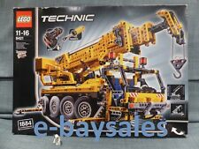 RARE HUGE TECHNIC LEGO SET - MOBILE CRANE 8421 - REAL PNEUMATIC PISTONS + MOTOR