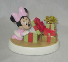 Minnie Mouse Precious Moments Christmas Presents Holiday Surprise Disney NWOB