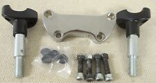 """Black & Chrome Motorcycle Handlebar Riser Extension Kit for 1"""" Handlebars"""