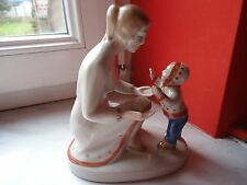 ANTIQUE RUSSIAN SOVIET PORCELAIN FIGURINE MOTHERHOOD MOTHER WITH CHILD USSR