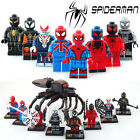 8pcs/set-minifigures-Super-Heroes-Avengers-Ultron-Spiderman-Building-Blocks-toys