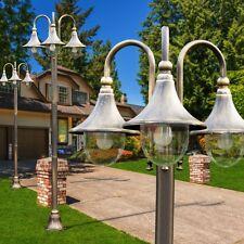 Lampione Giardino Lampada 3 Luci Ghisa Alluminio Classico Oro Marrone 142219