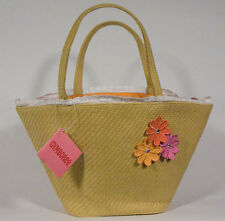 NWT GYMBOREE FRESHLY PICKED PURSE STRAW HANDBAG TOTE BAG FLOWERS NEW