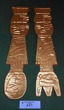 Vintage Wood/Wooden FORK & SPOON WALL Plaque Decor Carved GOLD