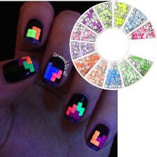 Strassstein Nagel Glitter Sticker Rad Straßsteine UV Gel Nail Art Stud 7215
