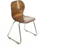 Stuhl-Stahlrohr Palisander Sitzschale Sixties 60er Space-Pop-Age chair