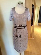 Roberto Naldi Dress Size 18 BNWT Beige Gold RRP £176 Now £79