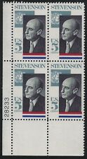 US Scott #1275, Plate Block #28233 1965 Stevenson 5c FVF MNH Lower Left