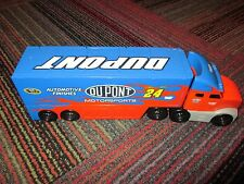2008 PLAY ALONG NASCAR #24 JEFF GORDON DUPONT HAULER / TRANSPORTER,TRAILER OPENS