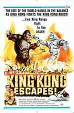King Kong Escapes Poster 02 Metal Sign A4 12x8 Aluminium